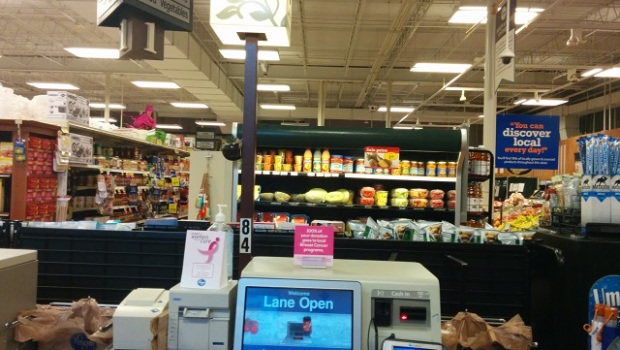 This Self Service Checkout Machine at the Baby Kroger is a tool of the devil.