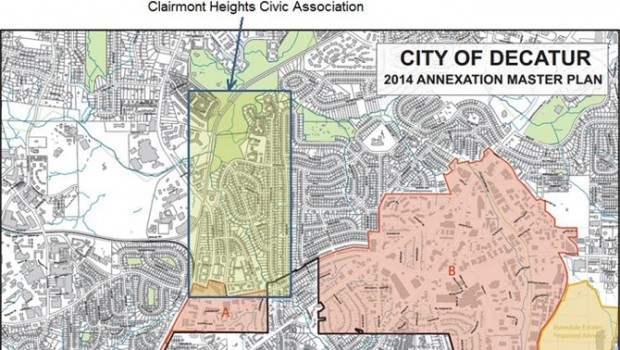 Map provided by the Clairmont Heights Civic Association
