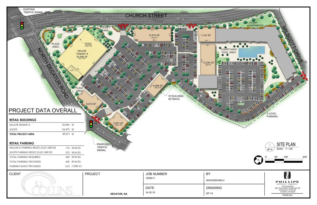 A site map of the North Decatur Square project. Click to enlarge. Source: http://sjcollinsent.com/