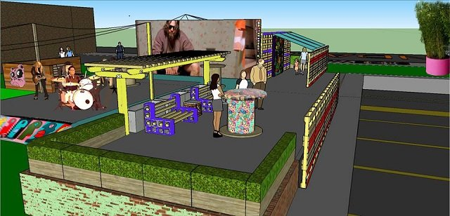 A concept rendering of the Avondale ArtLot. Photo provided to Decaturish