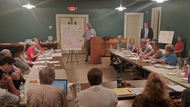 Michael Mandl spoke to the Druid Hills Civic Association on Sept. 21. Photo by Dan Whisenhunt