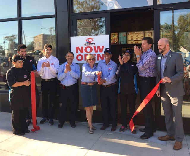 City officials celebrated the reopening of the Decatur Dairy Queen on Oct. 31. Photo by Cynthia Millhorn